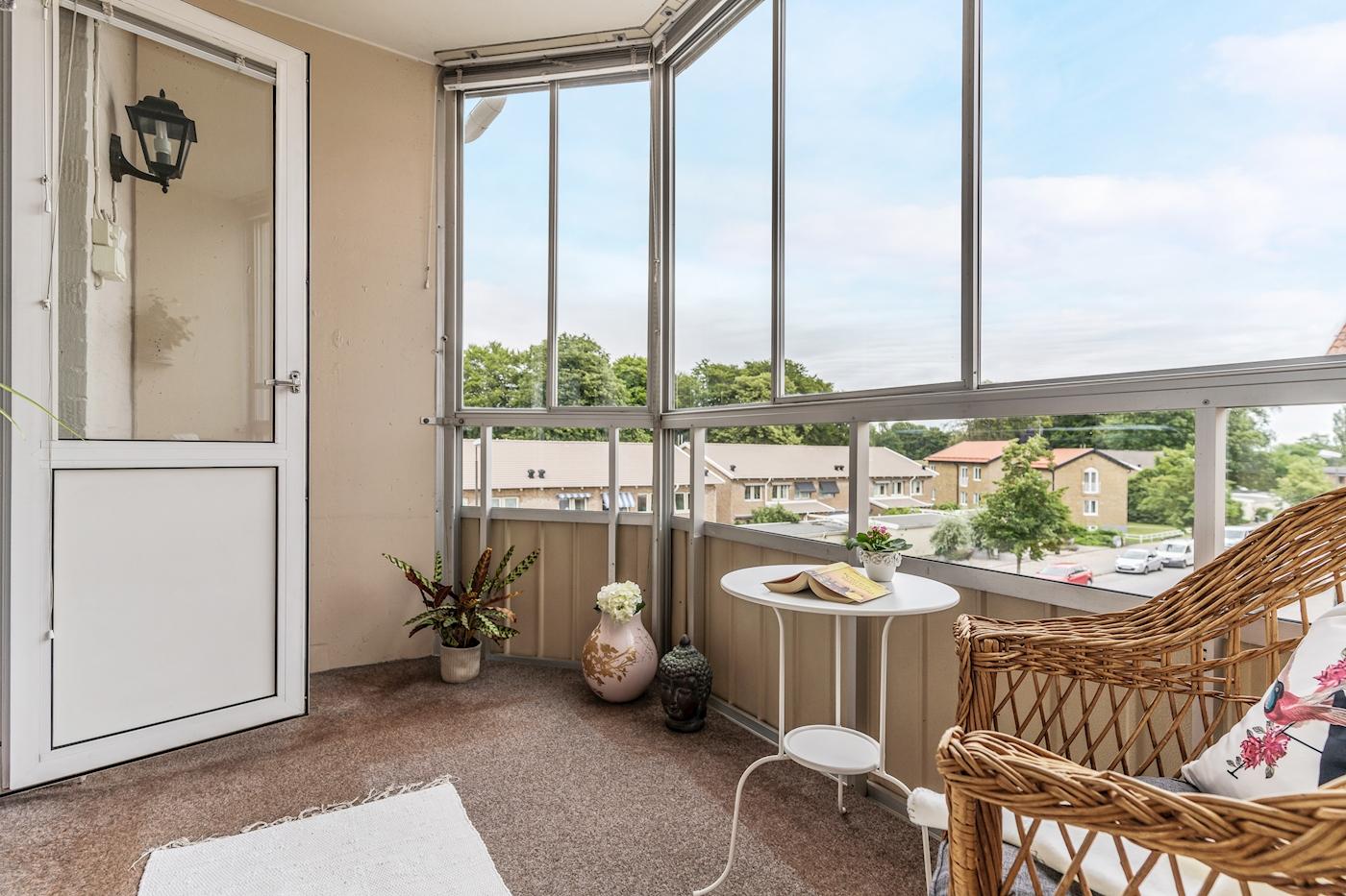 Fri utsikt från balkongen.
