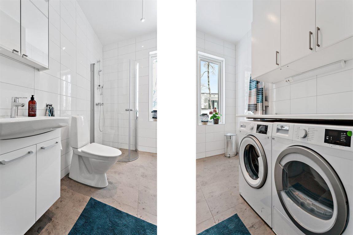 ... med fina material och praktiska tvättmöjligheter