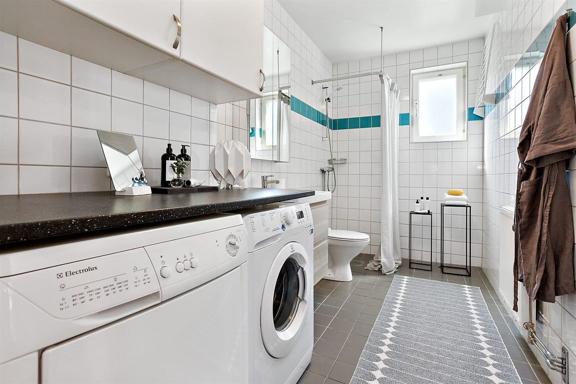 Dusch/WC/tvätt på entréplan