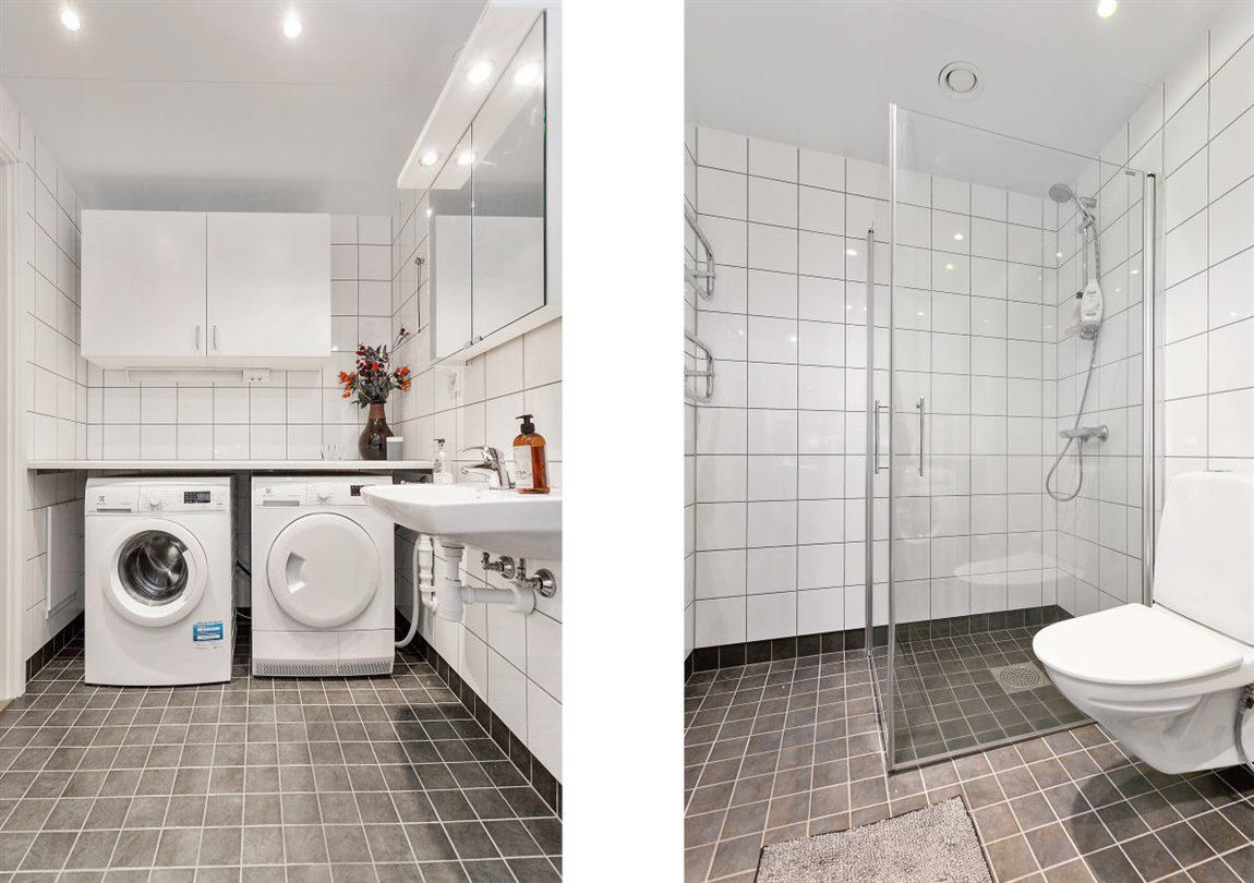 Stor och stilren dusch/WC/tvätt