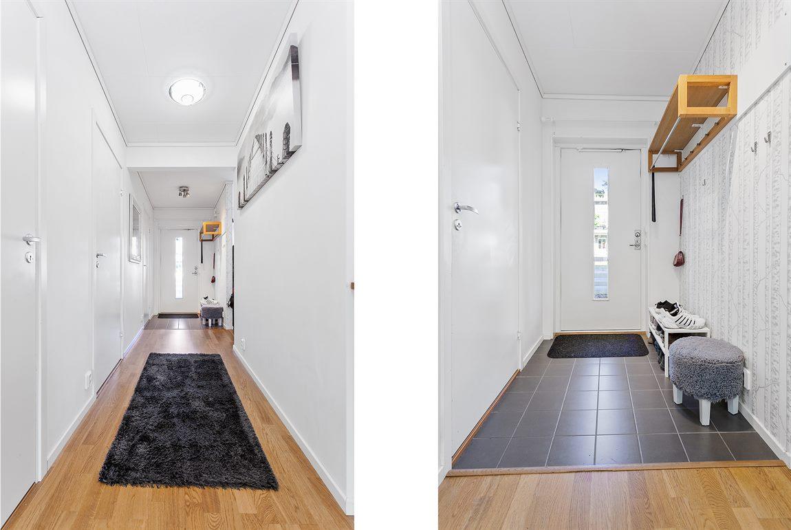 Ljus och välkomnande hall/entré